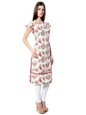 Meira Printed Crepe Women's Dress - Multicolour _ MEWT-1190-Multi