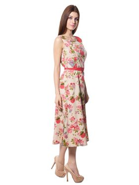 Meira Printed Crepe Women's Dress - Multicolour _ MEWT-1194-A-Multi
