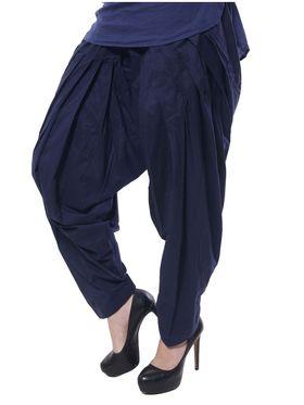 Meira Cotton Patiala Solid Salwar - Blue _MEPAT-1159-C