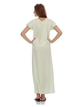 Clovia Cotton Blend Solid Nightsuit -NS0398P11