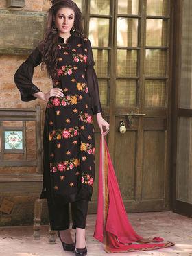 Viva N Diva Semi Stitched Georgette Floral Embroidered Semi Stitched Suits Nimaya-710