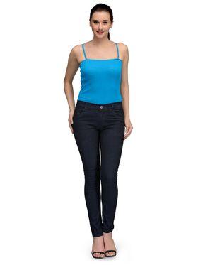 Oleva  Combo Of  3 Black Denim + Blue T-Shirt + Cream Spaghetti ONC-29