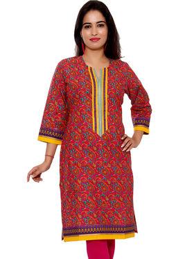 Set of 2 Priya Fashions Pure Cotton Jaipuri Printed Kurtis - PF104K2