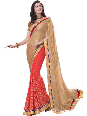 Indian Women Lycra And Georgette  Saree -Ra10521
