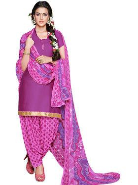 Khushali Fashion Crepe Self Dress Material -Rpsn99014