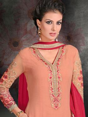Viva N Diva Georgette Embroidered Semi Stitched Suit Rihanaa-1107
