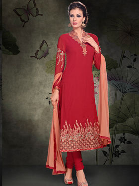 Viva N Diva Semi Stitched Georgette Embroidered Semi Stitched Suits Rihanaa-1112