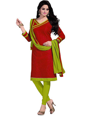 Khushali Fashion Chanderi & Khadi Embroidered Dress Material With Two Top -Sglon220003