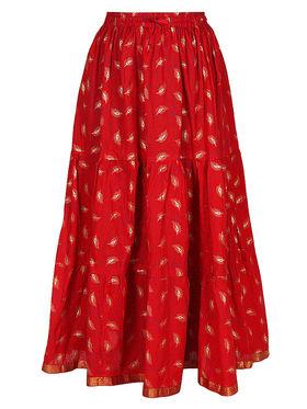 Amore Printed Cotton Skirt -Skv012R