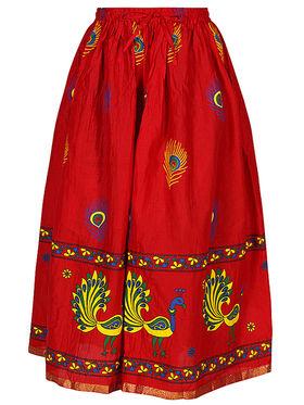 Amore Printed Cotton Skirt -Skv145R