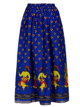 Amore Printed Cotton Skirt -Skv184Rb