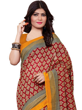 Shonaya Printed Handloom Cotton Silk Saree -Snkvs-3009-A
