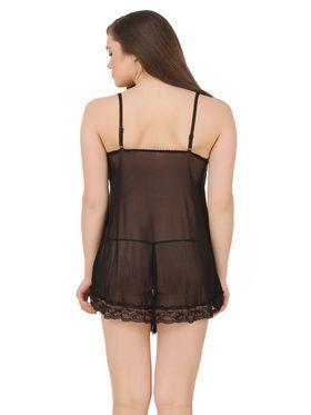 Fasense Power Net Solid Nightwear Babydoll Slip -SS078B2