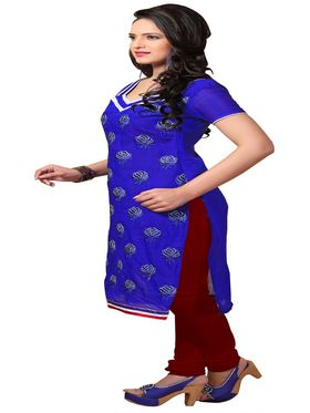 Khushali Fashion Chanderi Embroidered Unstitched Dress Material -SSKV41003