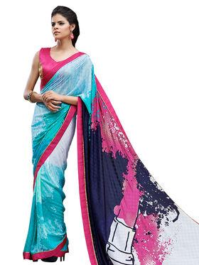 Nanda Silk Mills Fancy Printed Saree_Sap-310