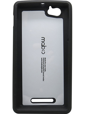 Snooky Premium Smiley Back Cover for Sony Xperia M C1905 - Black