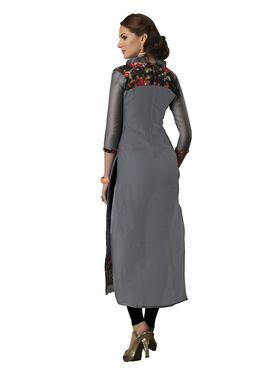 Viva N Diva Semi Stitched Chanderi Bhagalpuri Karachi Embroidered UnStiched Suits Suhaani-1007