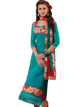 Viva N Diva Semi Stitched Chanderi Bhagalpuri Karachi Embroidered UnStiched Suits Suhaani-1008