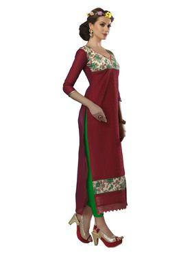 Viva N Diva Chanderi Bhagalpuri Karachi Embroidered Unstitched Suit Suhaani-1011
