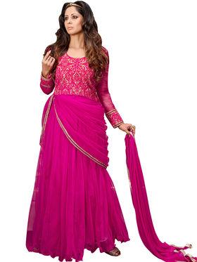 Thankar Semi Stitched  Silky Net Embroidery Dress Material Tas278-14017