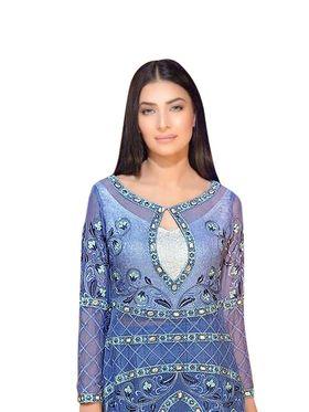 Thankar Semi Stitched  Georgette Embroidery Dress Material Tas279-2026
