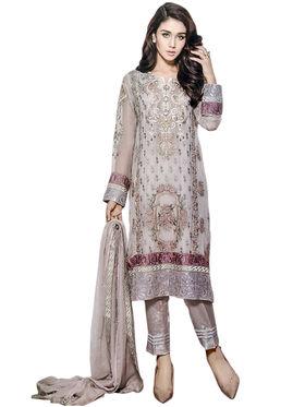 Thankar Semi Stitched  Georgette Embroidery Dress Material Tas283-2163