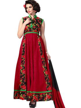 Thankar Embroidered Banglori Silk  Semi Stitched Anarkali Suit Tas289-9703