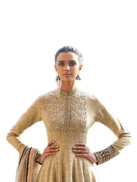 Thankar Semi Stitched  Khadi Cotton Embroidered Dress Material Tas310-11036