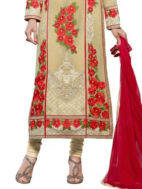 Thankar Embroidered Faux Georgette Semi-Stitched Suit  -Tas331-20016