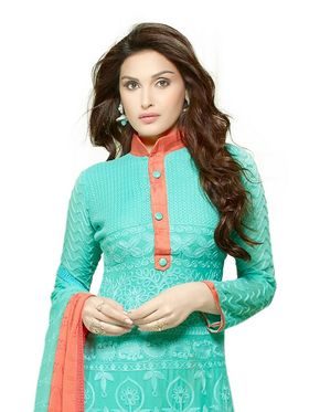 Thankar Embroidered Pure Chiffon Semi-Stitched Suit� -Tas334-2145
