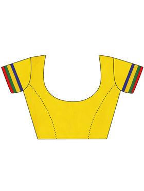Triveni Multi Colored Printed Faux Georgette Semi Stitched Lehenga Cholii_Ts13281
