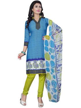 Triveni's Crape Printed Dress Material -TSLCSK9102