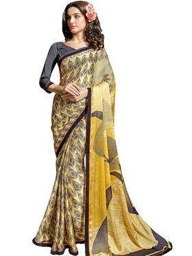 Triveni's Satin Chiffon Printed Saree -TSN1102