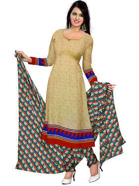 Triveni's Polyester Printed Dress Material -TSSTPMSK10014