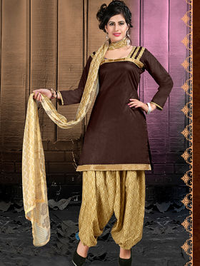 Viva N Diva Cotton Lace Work Embellished Unstitched Suit Tanaz-107