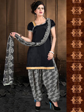 Viva N Diva Cotton Lace Work Embellished Unstitched Suit Tanaz-108