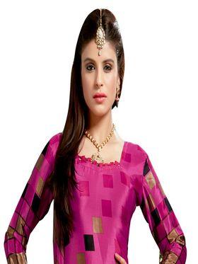 Khushali Fashion Silk Printed Unstitched Dress Material -VRIS21029