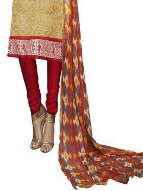 Khushali Fashion Chanderi Embroidered Unstitched Dress Material -VSIDC451011