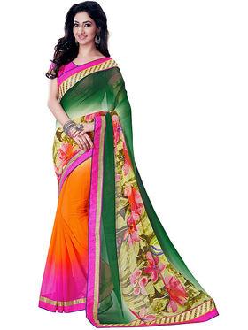 Nanda Silk Mills Fancy Print & Georgette  Party Wear Saree_WOMANIYA-3801