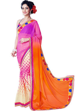 Nanda Silk Mills Fancy Print &Georgette  Party Wear Saree_WOMANIYA-3803