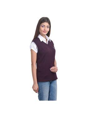 Pack of 6 Eprilla Spun Cotton Plain Sleeveless Sweaters -eprl30
