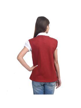 Pack of 4 Eprilla Spun Cotton Plain Sleeveless Sweaters -eprl25