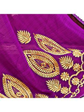 Khushali Fashion Embroidered Chiffon Half & Half Saree_KF77