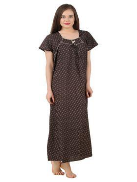 Fasense Cotton Printed Nightwear Long Nighty -YT020B1