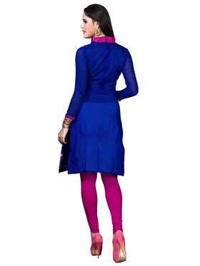 Khushali Fashion Cotton Embroidered Dress Material - Blue - PARI41001