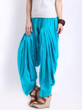 Javuli Plain Pure Cotton Semi Patiala Salwar-ja66