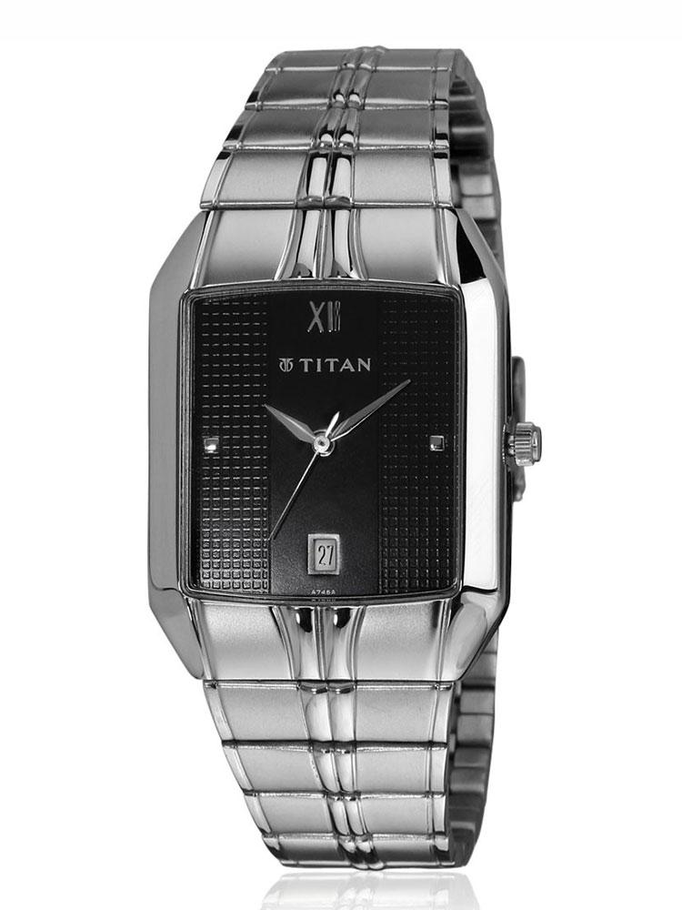 Titan Watches Black For Men