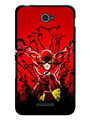 Snooky Designer Print Hard Back Case Cover For Sony Xperia E4 - Red