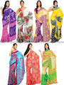 Alluring Set of 7 Printed Georgette Sarees (7G11)