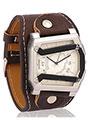 Dezine Wrist Watch for Men - Off White_DZ-GSQ102-WHT-BLK
